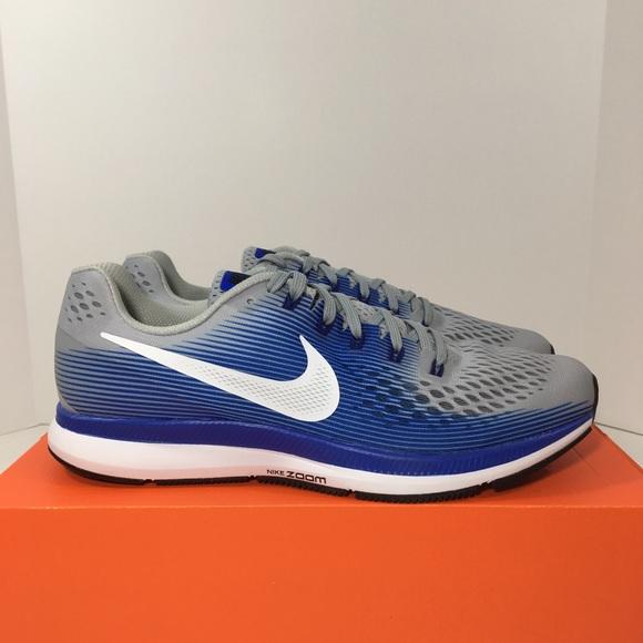 f169b79b75d90 New Nike Air Zoom Pegasus 34 Men s 10.5 Blue Gray